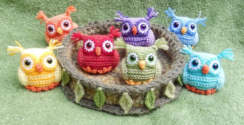 Haakpatroon Uiltjes in Nest
