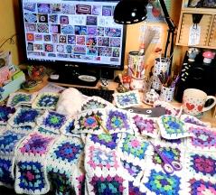 My busy desk.