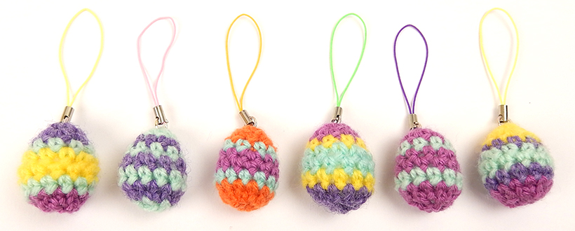 Mini Egg Charms by Moji-Moji design - free pattern