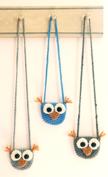 Crochet Owl Purses via Moji-Moji Design