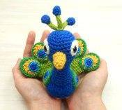 peacock-nestling